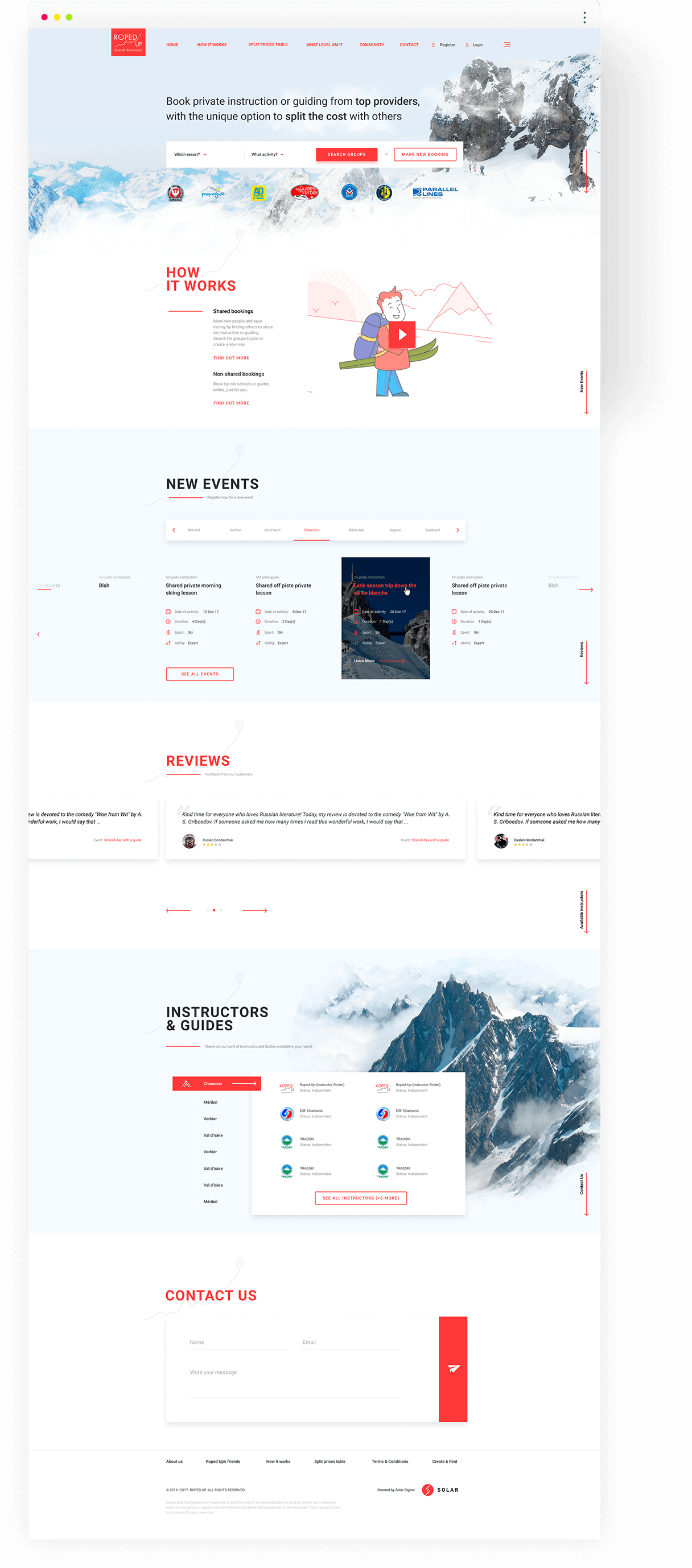 Second version of long last development of a marketplace for skiers.
