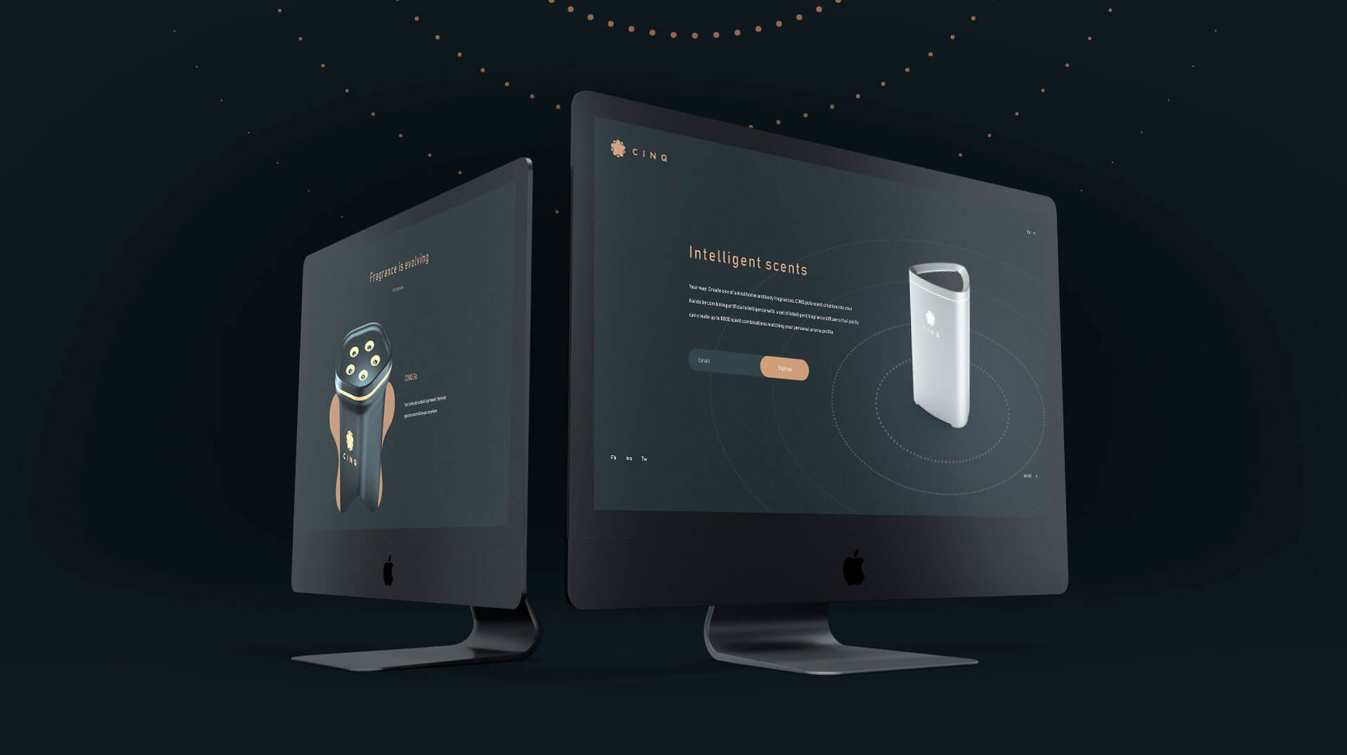 CINQ Promo Website